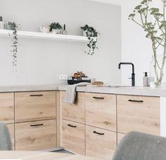 Home Interior, Kitchen Interior, Interior Design, Boho Kitchen, Ikea Kitchen, Kitchen Ideas, Kitchen Decor, Concrete Kitchen, Style Deco