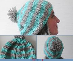 Get ready for ❄️winter❄️ with this pretty Aqua Ridge Slouchy Hat Crochet Pattern. Slouch Hat Crochet Pattern, Crochet Baby Hat Patterns, Crochet Patterns For Beginners, Crochet Baby Hats, Knitted Hats, Crochet Winter Hats, Front Post Double Crochet, All Free Crochet, Aqua