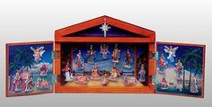 Fontanini 25 Piece Advent Calendar with Wood Stable, Roman-Fontanini-All, 65400 Nativity Scene Sets, Stables, Advent Calendar, Roman, Porcelain, Wood, Christmas, Painting, Art
