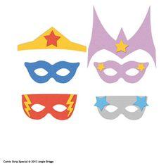 diy Comic superhero masks