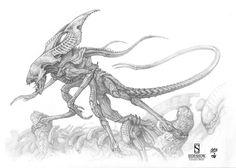 ALIEN KING sketches I did for Sideshow Collectibles, Amilcar Aldana Fong on ArtStation at https://www.artstation.com/artwork/J0dxz