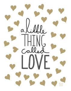 ❥ A little thing called love