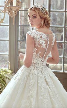 Wedding dress idea; Featured Dress: Nicole Spose