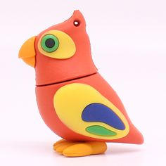 Hot Sales Lovely Parrot bird 32GB 16GB 8GB 4GB USB 2.0 USB Flash Drive Pen Drive Stick U Disk Pendrives Memory Stick gift