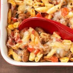 Baked Cavatelli Get everything you love about baked cavatelli without the guilt. This healthier version shaves off about 17 grams of fat, 250 calories, and 13 grams of carb per serving from a traditional recipe.