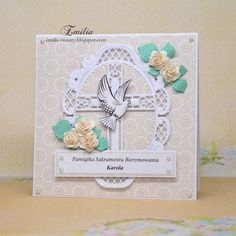Emilia tworzy: Kartka na bierzmowanie/Card for confirmation Get Well Cards, Frame, Decor, First Holy Communion, Christening, Picture Frame, Decoration, Decorating, Frames