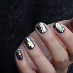 #snorkelblue + #glassnails