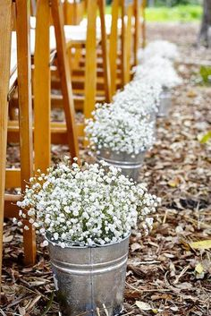 24 Baby's Breath Wedding Ideas For Rustic Weddings ❤ These small white and blush buds will add a fragrant smell and an airy aesthetic to your celebration. See our gallery of baby's breath wedding ideas: http://www.weddingforward.com/babys-breath-wedding-ideas/ #weddings #decorations