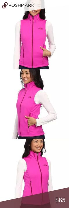 THE NORTH FACE CANYONWALL PINK WIND RESISTANT VEST THE NORTH FACE CANYONWALL LUMINOUS PINK WIND RESISTANT VEST   The North Face designs the most technically advanced, athlete-tested apparel. The canyonwall vest offers technical hardface fleece abrasion-resistant wind protection.  *Wind-resistant jersey fleece rated at 0-20 CFM (0 CFM is 100% windproof) *Brushed collar lining *Reverse-coil center front and hand pocket zips *Hem cinch-cord The North Face Jackets & Coats Vests