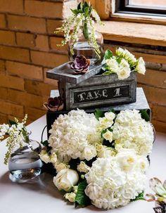 Photographer: Mugshots Photography; unique rustic style wedding centerpiece
