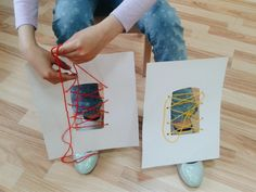 Learing how to tie shoe laces activity -   Preschool Kids