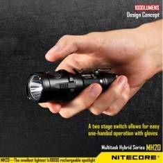 Nitecore MH20 CREE XM-L2 U2 1000LM USB Самый маленький светодиодный фонарик 18650