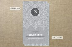 Initial Lace Business Cards by Kristen Smith at minted.com