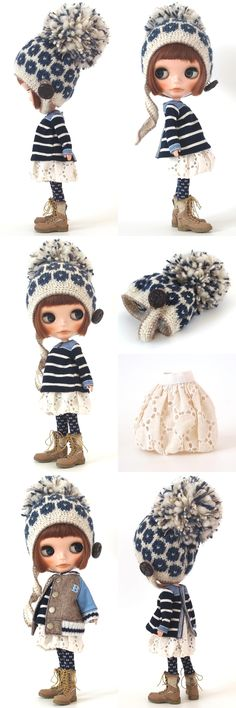 -What a cute outfit! Ooak Dolls, Blythe Dolls, Girl Dolls, Enchanted Doll, Cute Dolls, Ball Jointed Dolls, Big Eyes, Crochet Dolls, Beautiful Dolls