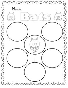Flying into First Grade bats word web