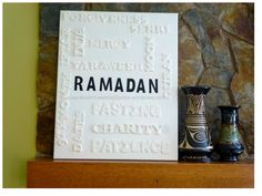 Ramadan Word Art could be done outside of ramadan to
