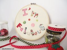 Applique wall hanging embroidery hoop art by ThimbleHoop on Etsy
