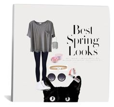 """""""Untitled #21"""" by madalyn-strickland on Polyvore featuring rag & bone/JEAN, H&M, Clu, Converse, Alice + Olivia, Fashion Focus, Lancôme and Ciaté"""