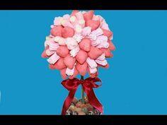 Arbol de nubes o marshmallows que puede hacer de centro de mesa