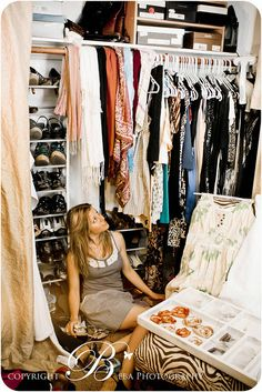 Walk in closet and Lots of things...Needing help keepin it all straighten out once its taken out....who puts it all back away?