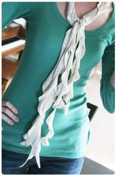 t-shirt ruffle scarf