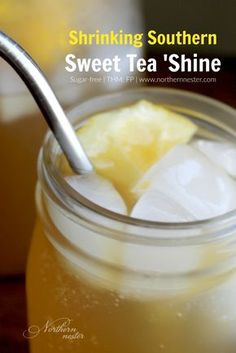 Oolong and green teas, liquid stevia, applecider vinegar and lemon juice are the main flavor agents in this Shinker/Moonshine combo that tastes just like Southern Sweet Tea! A Trim Healthy Mama Fuel Pull, you refresh yourself with it this Summer, all day long.