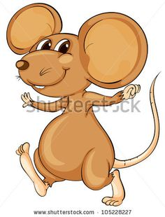 Frightened Mouse A Mouse Is Frightened By A Cat'S Shadow. Eps 8 Vector. - 85464937 : Shutterstock