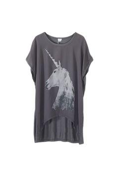 Horse Print Anomalous Grey T-shirt