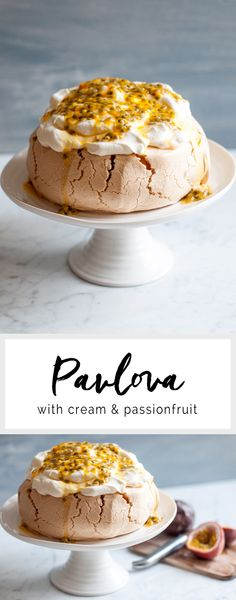 Pavlova with Cream & Passionfruit | eatlittlebird.com