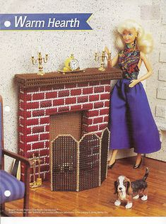 Warm Hearth Annies Attic Fashion Doll Plastic Canvas Club DollHouse Pattern