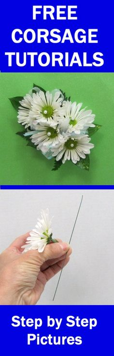 How to Make a Corsage - Easy Wedding Flower Tutorials  - Learn how to make bridal bouquets, corsages, groom boutonnieres, reception table centerpieces and church flower decorations.  Buy fresh flowers and discount florist supplies.