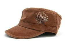Ladies Fidel Cap Cameron - Shell Chocolate/Smoked Topaz by Dolly Mama