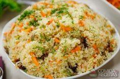 Receita de Arroz à grega completo em receitas de arroz, veja essa e outras receitas aqui!