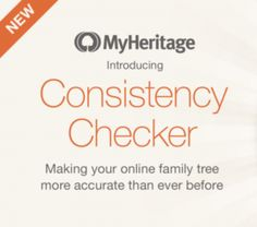 MyHeritage Introduced Consistency Checker| It is a new tool that can be used with online family trees on MyHeritage. Consistency Checker scans your family tree and identifies mistakes and inconsistencies in your data so that you can make necessary changes in your tree. #MyHeritage #genealogy #familytree #research #research #an