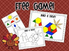 """""""Build a Turkey"""" (free in preview file for Thanksgiving Math & Literacy Center from Mrs. Ricca's Kindergarten)"""