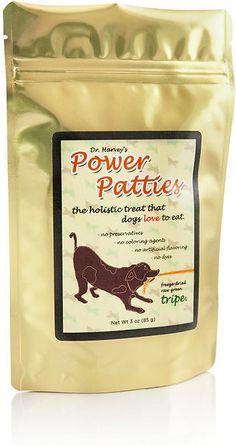 Dr. Harvey's Power Patties Raw Green Tripe Freeze-Dried Dog Treats, 3-oz bag
