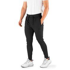 c4169e462 Contour Athletics Men's Joggers Elite (HydraFit) Track Pants Sports Workout  Sweatpants with Zipper and
