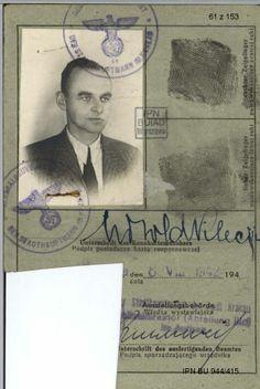 Witold Pilecki niemiecka karta rozpoznawcza