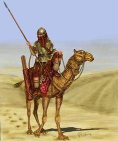 Camel Warrior m Fighter desert Medieval World, Medieval Armor, Military Art, Military History, Ancient Rome, Ancient History, Roman Warriors, Roman Legion, Greek Warrior
