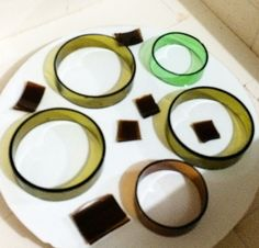 how to cut rings from wine bottles