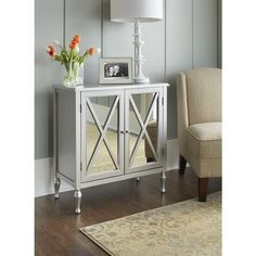 Hollywood Mirrored Accent Cabinet  $189.99  7-4-14  Target   31 X 29 X 14