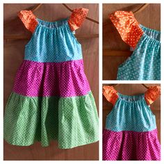 Hippie Polka Dot Cotton Peasant Style Summer Dress, size 4t by SewMeems on Etsy