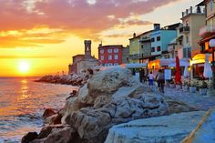 Piran sunset | Piran, Slovenia