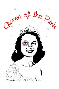 Queen of the Rink roller derby print