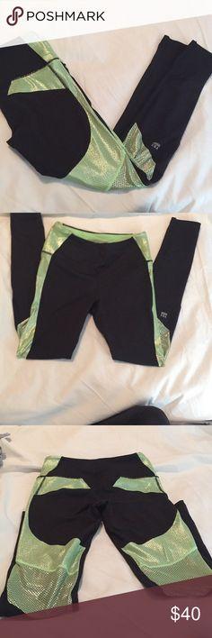 Neon green and black Victoria's Secret pants Workout pants Victoria's Secret Pants Leggings