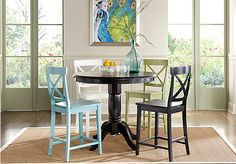 Shop for a Brynwood Black 5 Pc Counter Height Dining Room w Black Barstools at Rooms To Go. Find Dining Room Sets that will look great in your home and complement the rest of your furniture.