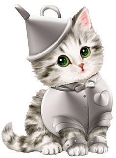 Kayomi Harai Kitten: I'm A Little Rusty Tinman Wizard Of Oz Figurine by Kittens Cutest, Cats And Kittens, Cute Cats, Cross Paintings, Here Kitty Kitty, Cat Drawing, Crazy Cats, Cute Cartoon, Animal Drawings