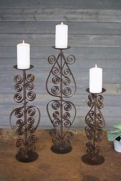 NEW TUSCAN LARGE SILVER HURRICANE CANDLE HOLDER MODERN  NICKLE SET//2