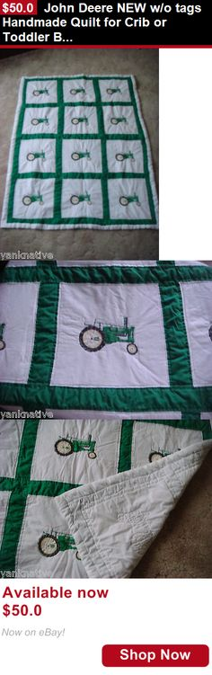 Quilts And Coverlets: John Deere New W/O Tags Handmade Quilt For Crib Or Toddler Bed 40X57 Usa Made BUY IT NOW ONLY: $50.0