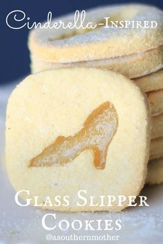 These Glass Slipper Cookies are inspired by Disney's Cinderella. They're the perfect cookie for your Princess Party or an afternoon tea.